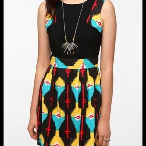 Urban Outfitters High neck Ikat print dress